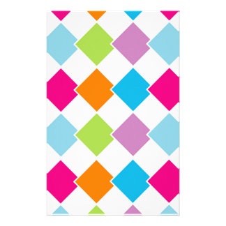 Colorful tile background stationery