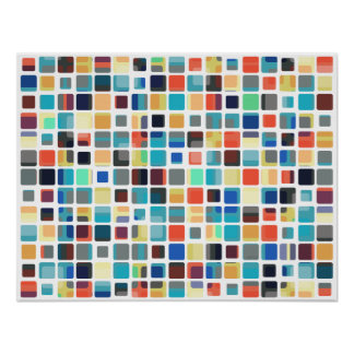 Colorful Tile Pattern Poster