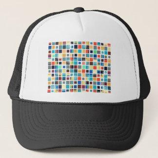 Colorful Tile Pattern Trucker Hat