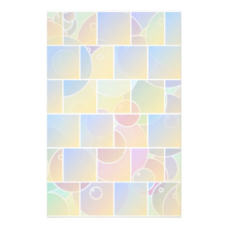Colorful tiled puzzle stationery
