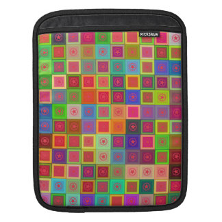 Colorful tiles and stars sleeve for iPads