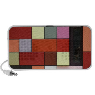 Colorful Tiles Doodle Mp3 Speakers