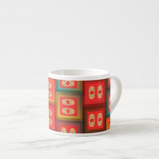 Colorful tiles espresso cup
