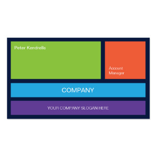 Colorful Tiles No1 Business Card