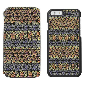 Colorful tiles pattern iPhone 6/6s wallet case