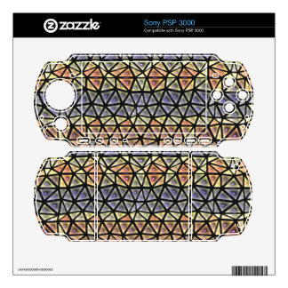 Colorful tiles pattern PSP 3000 decal