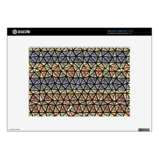 Colorful tiles pattern decals for large netbooks