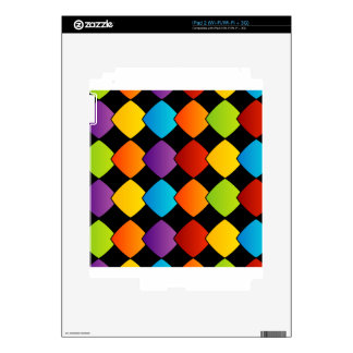 Colorful tiles decal for iPad 2