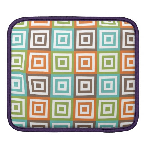 Colorful Tiles Sleeve For iPads