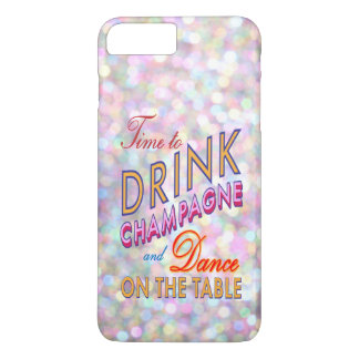 Colorful Time to Drink Champagne iPhone 7 Plus iPhone 8 Plus/7 Plus Case