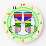 COLORFUL Toddler's Wall Clock