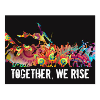 Colorful Together We Rise Postcard