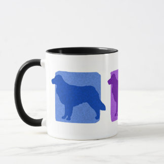 Colorful Toller Silhouettes Mug