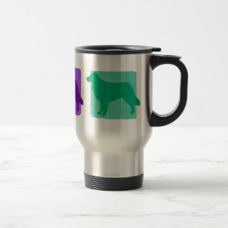 Colorful Toller Silhouettes Travel Mug