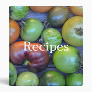 Colorful tomatoes recipe binder
