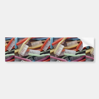 Colorful toothbrushes bumper sticker