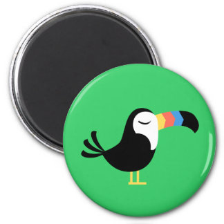 Colorful Toucan 2 Inch Round Magnet