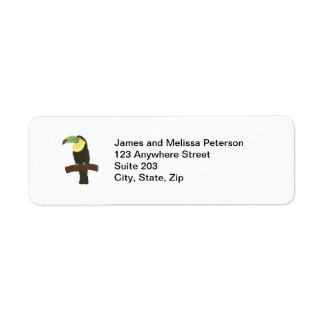 Colorful Toucan Bird Address Labels
