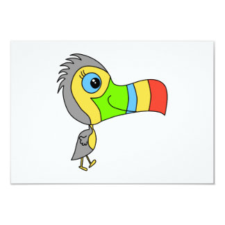 Colorful Toucan Bird. Card
