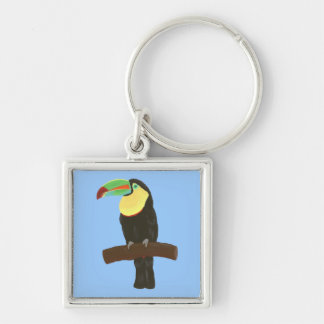 Colorful Toucan Bird  Painting Key Chain