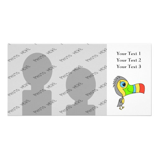 Colorful Toucan Bird. Picture Card
