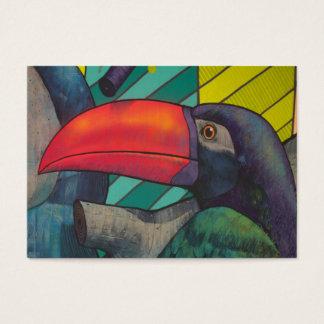 Colorful Toucan Graffiti Business Card