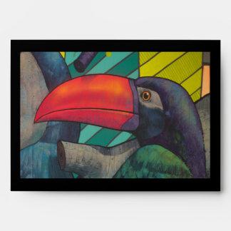 Colorful Toucan Graffiti Envelope