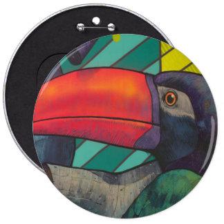 Colorful Toucan Graffiti Pinback Button