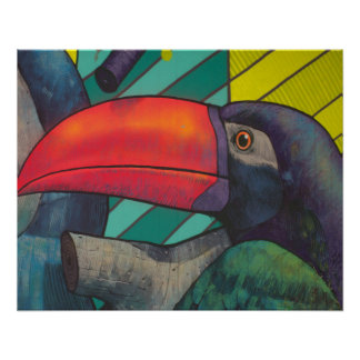 Colorful Toucan Graffiti Poster