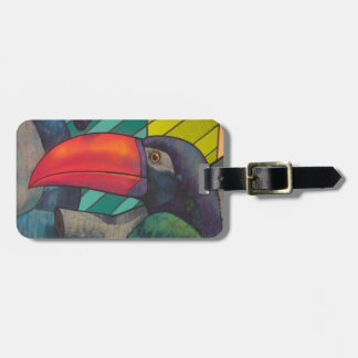 Colorful Toucan Graffiti Tag For Luggage