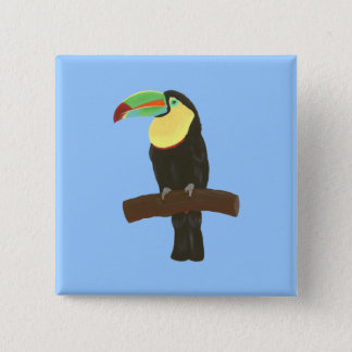 Colorful Toucan Painting by CherylsArt Button