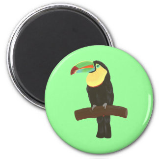 Colorful Toucan Painting by CherylsArt Magnet