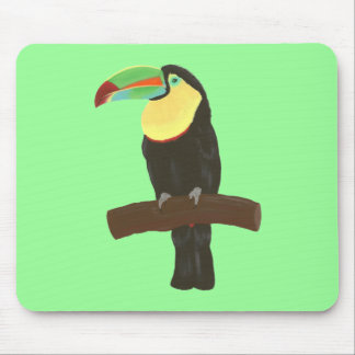 Colorful Toucan Painting by CherylsArt Mousepad