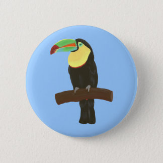 Colorful Toucan Painting by CherylsArt Pin