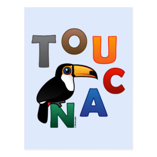 Colorful Toucan Postcard