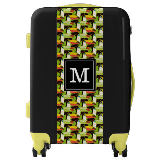 Colorful Toucans | Add Your Initial Luggage