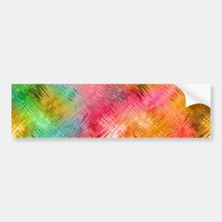 Colorful Tourmaline Glassy Texture Bumper Sticker