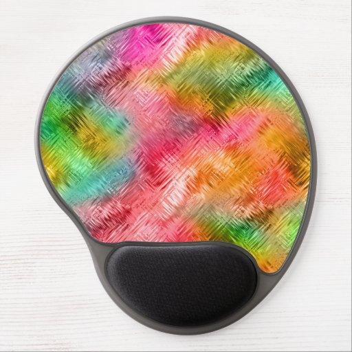 Colorful Tourmaline Glassy Texture Gel Mouse Pads