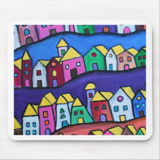COLORFUL TOWN by Prisarts Mouse Pad