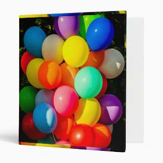 Colorful Toy Balloons 3 Ring Binders