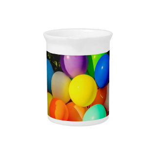 Colorful Toy Balloons Beverage Pitcher