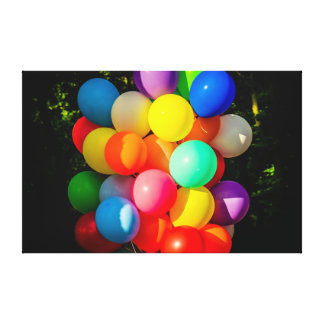 Colorful Toy Balloons Canvas Print