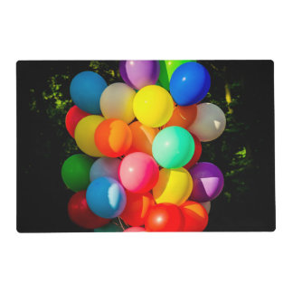 Colorful Toy Balloons Placemat