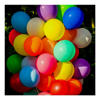 Colorful Toy Balloons Poster