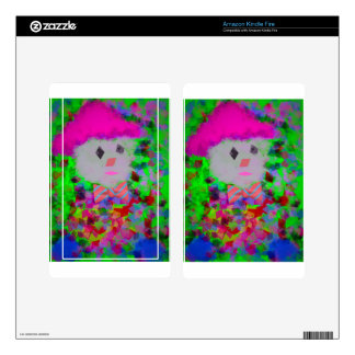 Colorful toy in a toy car skin for kindle fire