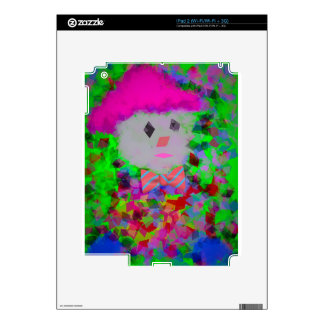 Colorful toy in a toy car skins for iPad 2