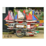 Colorful Toy Sailboats Luxembourg Gardens Paris Post Cards