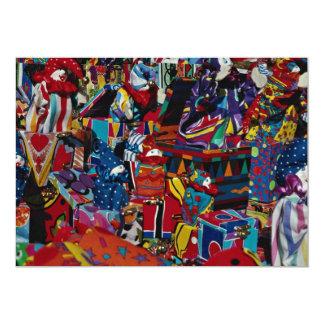 "Colorful toys 5"" x 7"" invitation card"