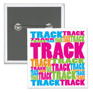 Colorful Track Pinback Buttons