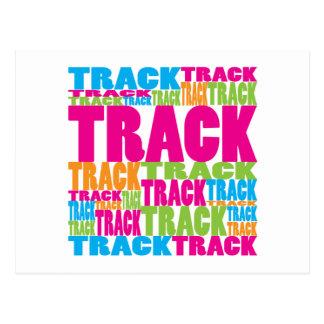 Colorful Track Postcard